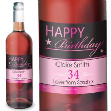 Happy Birthday Rose Wine